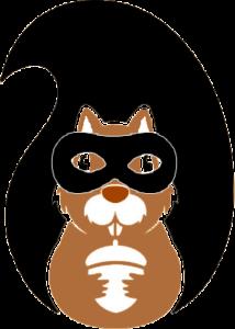 L'écureuillerie - logo ecureuil masqué