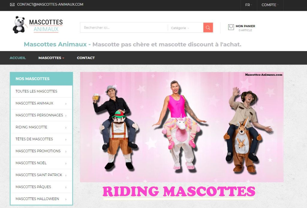 site mascottes animaux